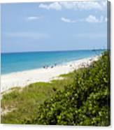 Juno Beach On The East Coast Of Florida Canvas Print