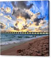 Juno Beach Pier Florida Sunrise Seascape D7 Canvas Print