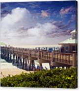 Juno Beach Pier Treasure Coast Florida Seascape Dawn C5a Canvas Print