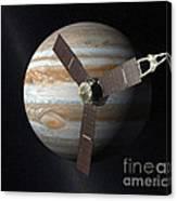 Juno Mission To Jupiter Canvas Print