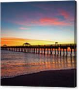 Juno Pier Colorful Sunrise Canvas Print