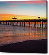 Juno Pier Colorful Sunrise Panoramic Canvas Print