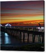 Juno Pier Twilight Wide Canvas Print