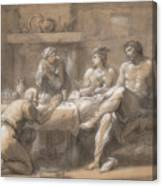 Jupiter And Mercury In The House Of Baucis And Philemon Canvas Print