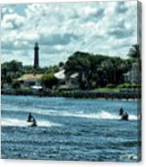 Jupiter Inlet And Lighthouse Canvas Print