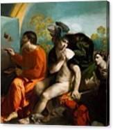 Jupiter Mercury And Virtue 1524 Canvas Print