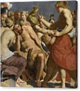 Jupiter Rebuked By Venus On Mount Olympus  Canvas Print