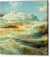 Jupiter Terrace  Yellowstone Canvas Print