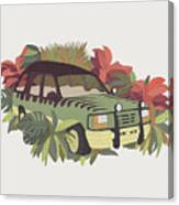 Jurassic Car Canvas Print