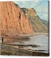 Jurassic Cliffs Canvas Print