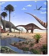 Jurassic Dinosaurs, Artwork Canvas Print