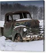 Just An Old Pickup Truck Canvas Print