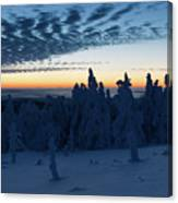Just Before Sunrise On The Brocken In The Harz Mountains Canvas Print