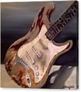 Just Broken In- Old Guitar Canvas Print