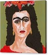 Just Frida Canvas Print