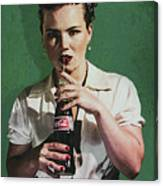 Just Like Old Times - Coca-cola Canvas Print
