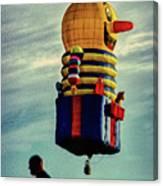 Just Passing Through  Hot Air Balloon Canvas Print