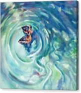 Just Swimming Canvas Print