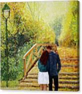 Just Walking Canvas Print