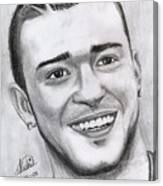Justing Timberlake Portrait Canvas Print