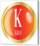K For Kilo Canvas Print