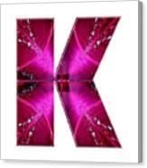 k kk kkk Alpha Art on Shirts alphabets initials   shirts jersey t-shirts v-neck by NavinJoshi Canvas Print