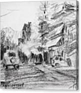 K Varnali Street Nea Erythraia  Canvas Print