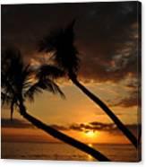 Ka'anapali Beach Sunset Canvas Print