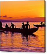 Maui Hawaii Kaanapali Outrigger Sunset Canvas Print