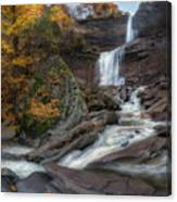 Kaaterskill Falls Autumn Square Canvas Print