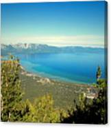 Lake Tahoe From The Top Of Heavenly Gondola Canvas Print