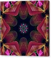 Kaleidoscope Christmas Poinsettia  Canvas Print