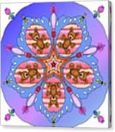 Kaleidoscope Of Bears And Bees Canvas Print