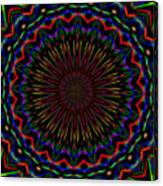 Kaleidoscoped Fireworks Canvas Print