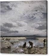 Kalksteinsammlerinnen Im Isarbett Canvas Print