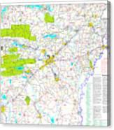 Kamkam Arkansas Highway Map  Canvas Print