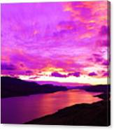 Kamloops Lake At Dawn Canvas Print