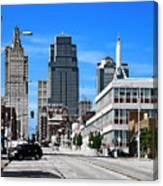 Kansas City Cross Roads Canvas Print