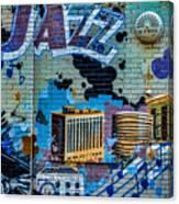 Kansas City Jazz Mural Canvas Print