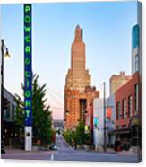 Kansas City Power And Light District Canvas Print
