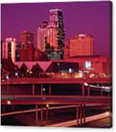 Kansas City Skyline 1991 Canvas Print