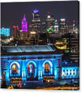 Kansas City Vibrant At Night Canvas Print