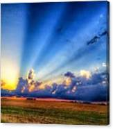 Kansas Country Sunset Canvas Print