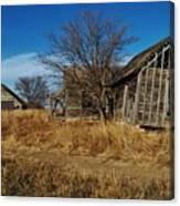 Kansas Farmhouse And Barn Canvas Print