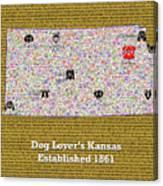 Kansas Loves Dogs Canvas Print