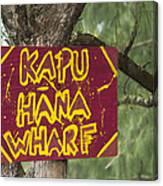 Kapu Hana Wharf Canvas Print