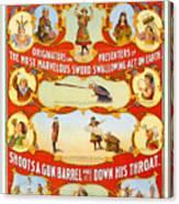 Kar-mi And The Great Victorina Troupe Originators Canvas Print