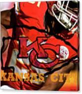 Kareem Hunt, Kansas City Chiefs Canvas Print