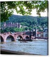 Karl Theodor Bridge And Heidelberg Castle  Canvas Print
