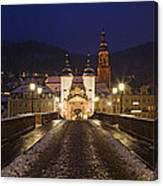 Karl Theodor Bridge With The Castle Canvas Print